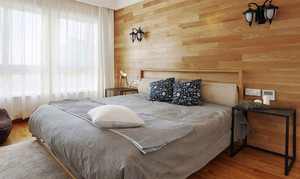 宜家风格温馨原木色卧室装修效果图赏析