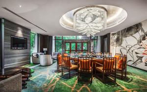 中式风格奢华酒店包厢吊灯装修效果图