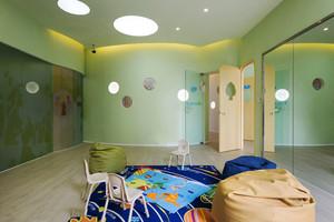 现代简约风格清新幼儿园教室装修效果图