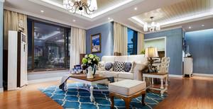地中海风格蓝色清新两室两厅室内装修效果图案例