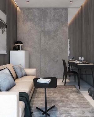 65平米简约风格温馨两室两厅室内装修实景图
