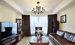 美式风格精致三室两厅两卫装修效果图案例