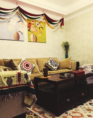 美式混搭风格精致两室两厅室内设计装修效果图