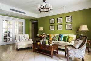 美式风格清新时尚客厅装修实景图赏析