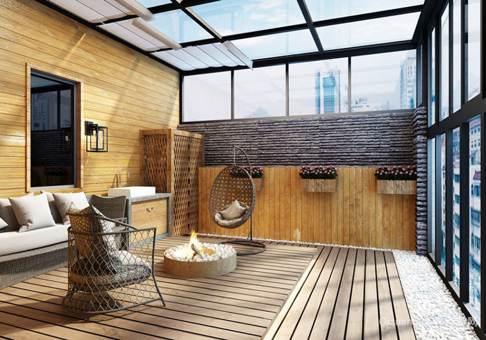 现代风格大户型精致阳台设计装修效果图赏析