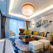 新古典风格轻奢时尚客厅设计装修实景图赏析