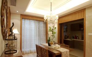 中式风格雅韵清新餐厅设计装修效果图赏析