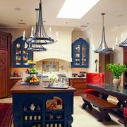 地中海风格混搭别墅厨房装修效果图赏析