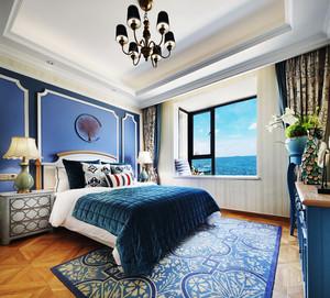 地中海风格精美卧室背景墙装修效果图赏析