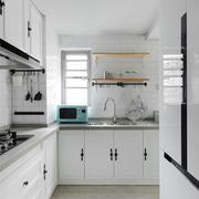 12平米简约风格白色厨房装修效果图赏析