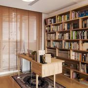简约风格原木色书房设计装修效果图