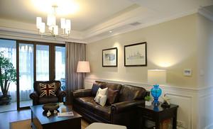 美式风格精装两室两厅室内设计装修效果图案例