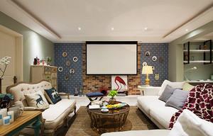 美式混搭风格大户型室内装修效果图案例