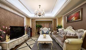 欧式风格奢华甜美三室两厅室内装修效果图赏析