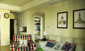 80平米田园风格清新室内设计效果图案例