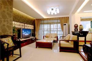 中式风格典雅精致两室两厅室内装修效果图赏析