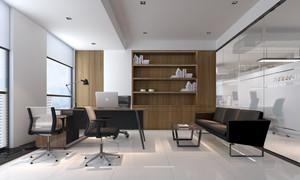现代风格老总办公室设计装修效果图
