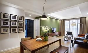 北欧风格清新三室两厅室内设计装修效果图