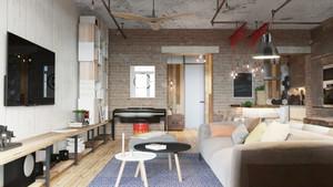 66平米后现代风格精致单身公寓装修效果图