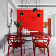 后现代风格时尚红色创意餐厅装修效果图
