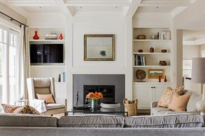 300平米简欧风格清新别墅室内设计装修效果图案例