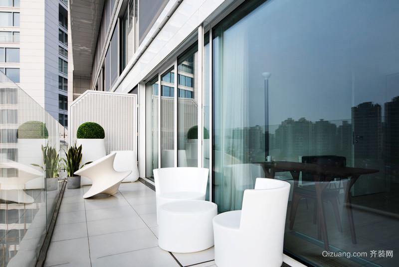 现代简约风格时尚阳台设计实景图
