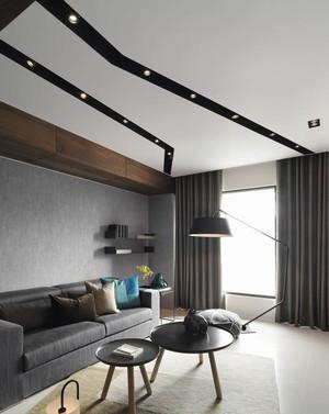 简约风格黑色系时尚一居室室内装修效果图