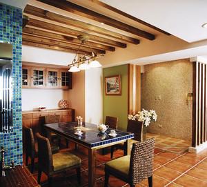 美式乡村风格精致三室两厅两卫装修效果图案例