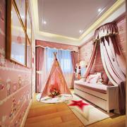 欧式风格粉色精美儿童房设计装修效果图