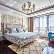 欧式风格温馨浅色别墅卧室装修效果图赏析