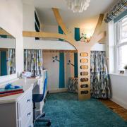 现代风格时尚创意儿童房装修实景图赏析