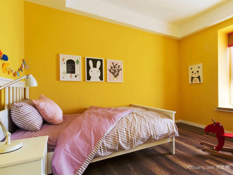 欧式风格暖色系儿童房设计装修效果图