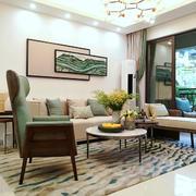 新中式风格精致客厅装修实景图赏析