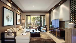 340平米中式风格古典别墅室内装修效果图