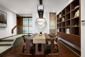 中式风格古典素雅餐厅设计装修效果图