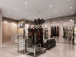 欧式风格精品服装店设计装修效果图