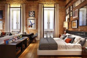 后现代风格创意卧室背景墙装修效果图