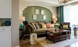 混搭风格温馨舒适三室两厅室内装修效果图