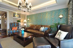 122平米美式风格精致两室两厅装修效果图