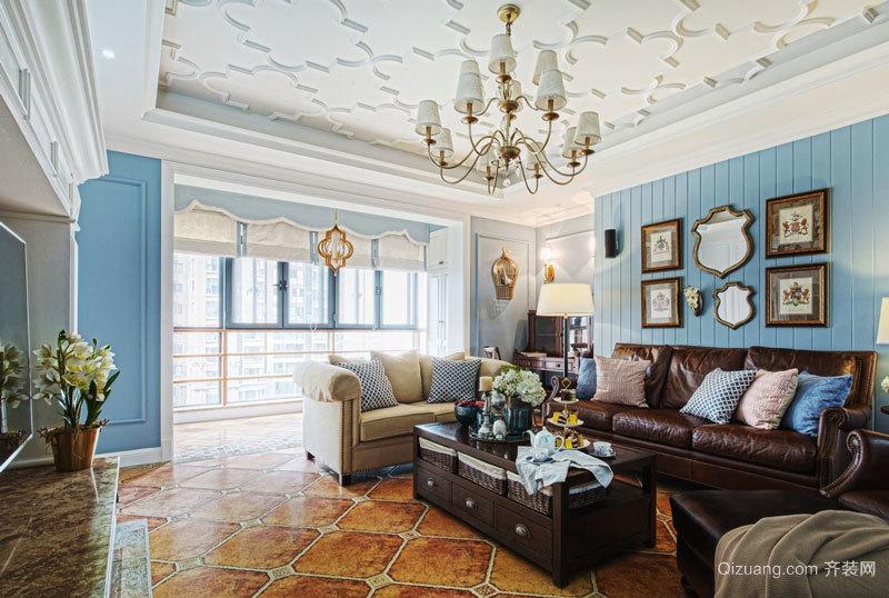 美式风格精美客厅吊顶设计装修效果图赏析