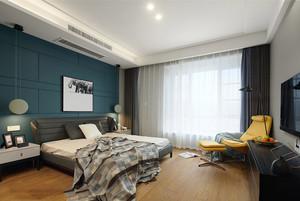 现代风格时尚卧室背景墙装修效果图赏析