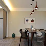 新中式风格简约餐厅设计装修效果图