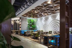 现代风格创意中餐厅设计装修效果图