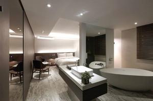 现代简约风格酒店客房设计装修实景图