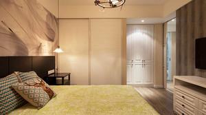 混搭风格时尚精装三室两厅室内装修效果图