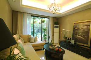 99平米简欧风格精美三室两厅室内装修实景图