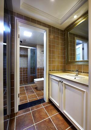 180平米美式风格精致复式楼室内设计装修效果图