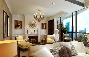 148平米欧式风格大户型室内设计装修效果图