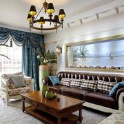 欧式风格精美时尚客厅背景墙装修效果图赏析