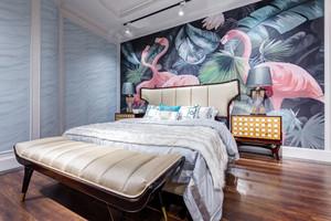 新古典主义时尚卧室背景墙装修效果图鉴赏